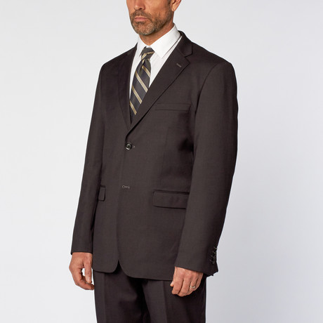 Classic Fit 2-Piece Solid Suit // Charcoal (US: 36S)