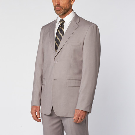 Classic Fit 2-Piece Solid Suit // Light Gray (US: 36S)