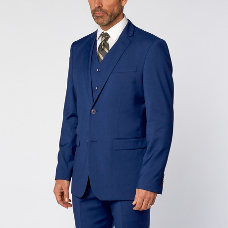 Slim-Fit 3-Piece Solid Suit // Indigo (US: 36S)