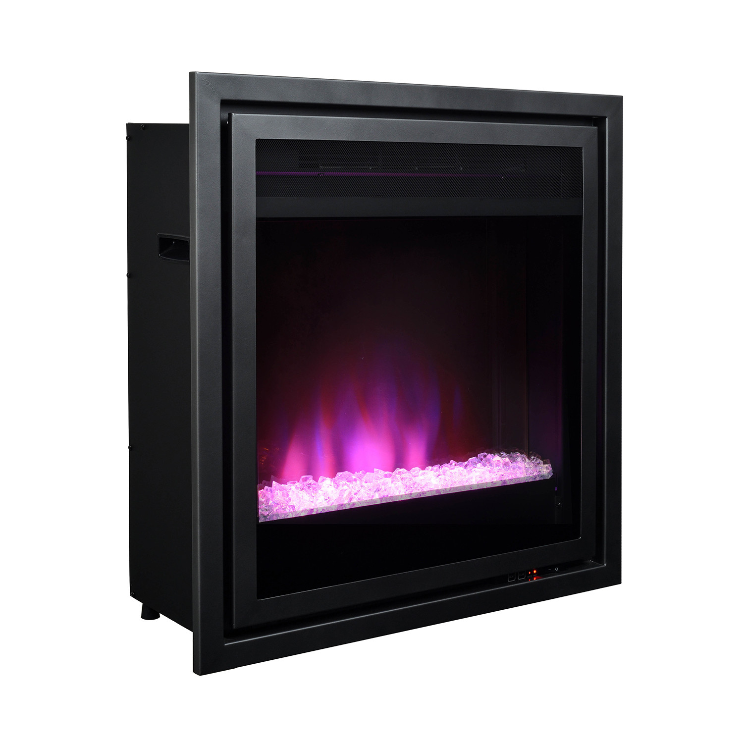 pacific heat  full size contemporary electric fireplace insert  - pacific heat  full size contemporary electric fireplace insert (metallicgrey)