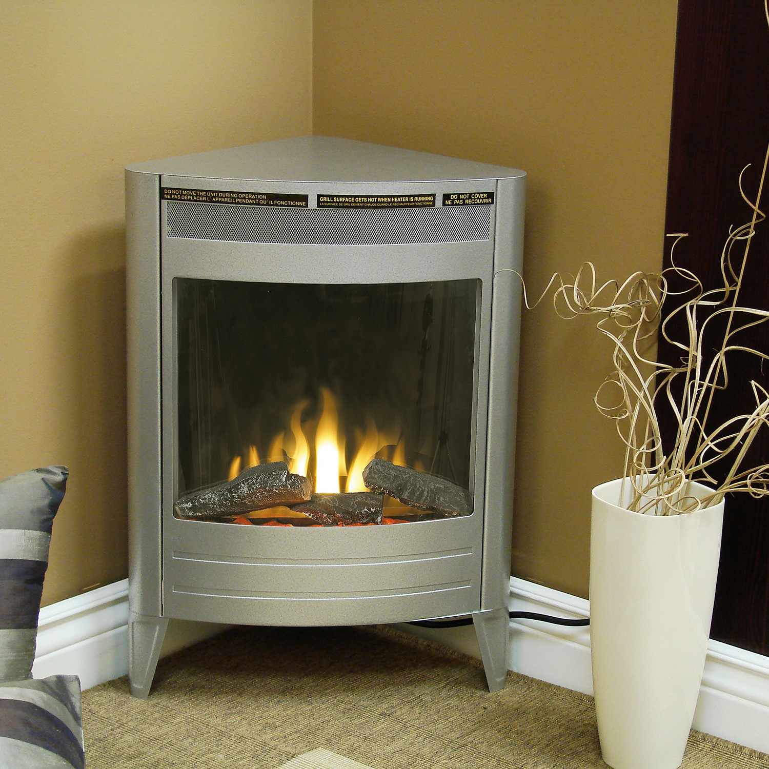 Corner Wood Burning Stove Functional And Interior: Lovely Corner Stove Fireplace @KS58