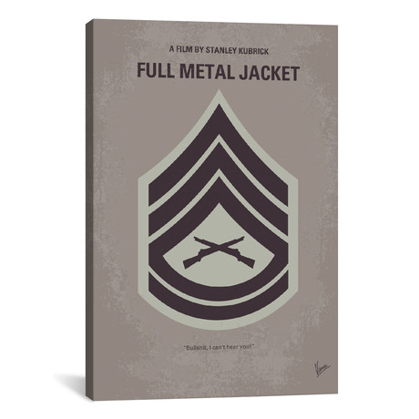 "Full Metal Jacket (18""W x 26""H x 0.75""D)"