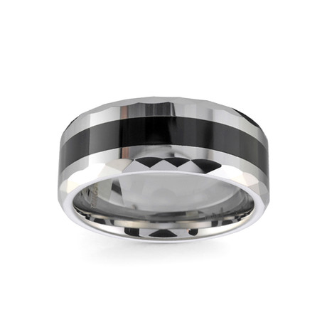 Tungsten Polished Ceramic Band (Size 7)