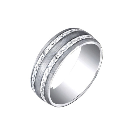Tungsten and Silver Band (Size 7)
