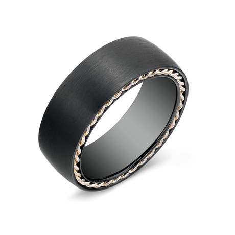Black Matte Titanium Band (Size 7)