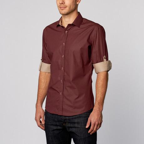 Classic Button-Up Shirt // Burgundy