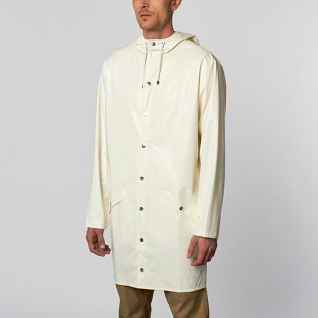 Rains UK // Longline Jacket // White Spots (S/M)