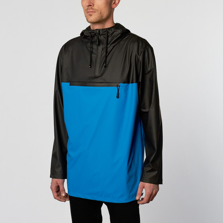 Rains UK // Anorak // Black + Sky Blue (M/L)