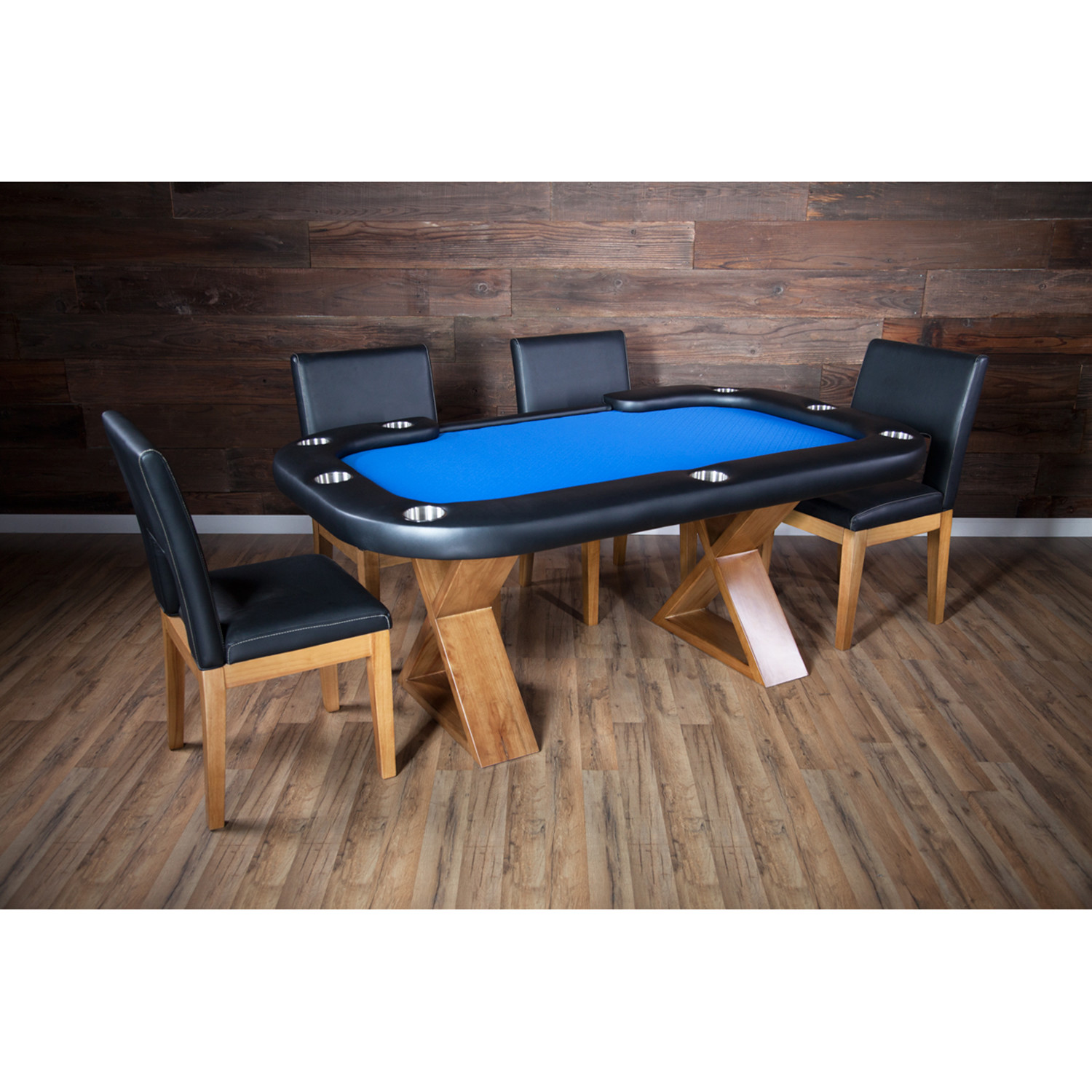 Helmsley Poker Dining Table // Blue (Table Only)