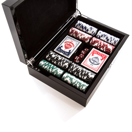 Carbon Series Poker Set (Standard + 200 Chips)
