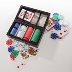 Leather Poker Set (Crocodile Leather)