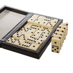 The Line 'Em Up Domino Set (Ostrich Leather)