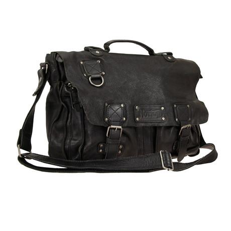 Leather Satchel // Black