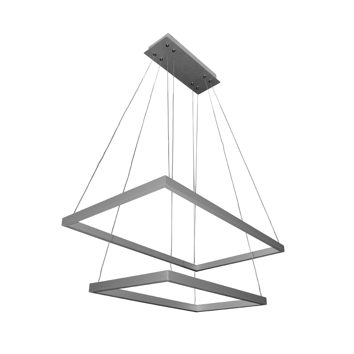 Atria duo two tier chandelier silver vonn touch of modern atria duo two tier chandelier silver arubaitofo Image collections