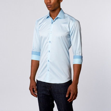 Luxor Dress Shirt // Light Turquoise
