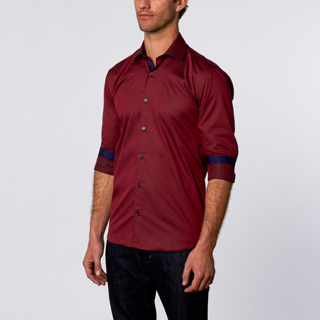 Luxor Dress Shirt // Burgundy