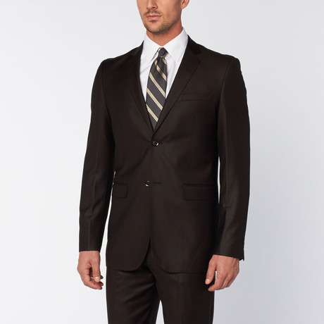 Slim-Fit Top Stitch 2-Piece Suit // Black (US: 36S)