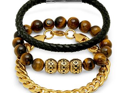 Leather_Wood_Gold_Bracelets