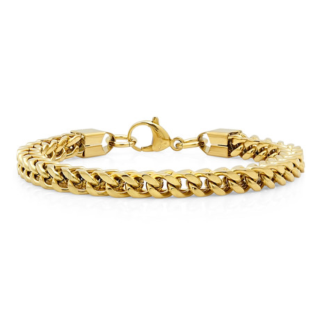 18k Gold Plated Box Chain Bracelet