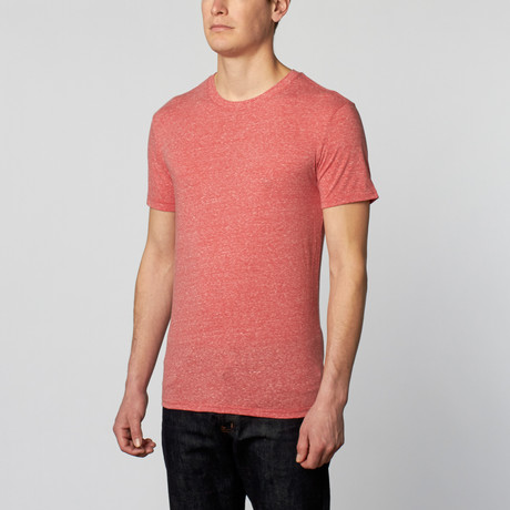College Point Triblend Crew // Red (XS)
