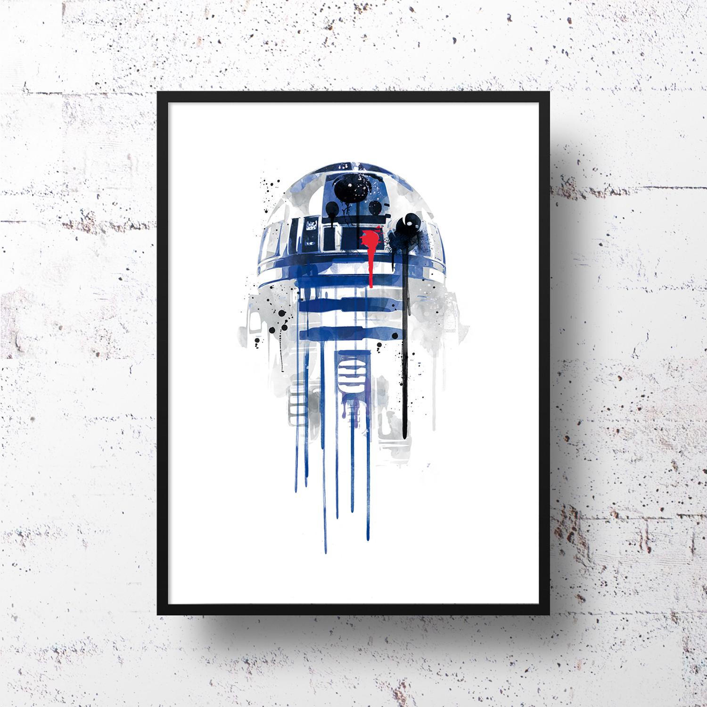 R2d2 18 W X 24 H X 0 5 D Star Wars Prints Touch Of Modern