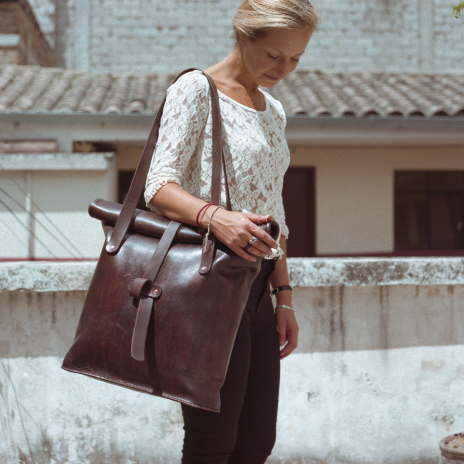 2277067f28b The Emily // Oversized Leather Tote Bag (Brown) - JJ Leathersmith ...