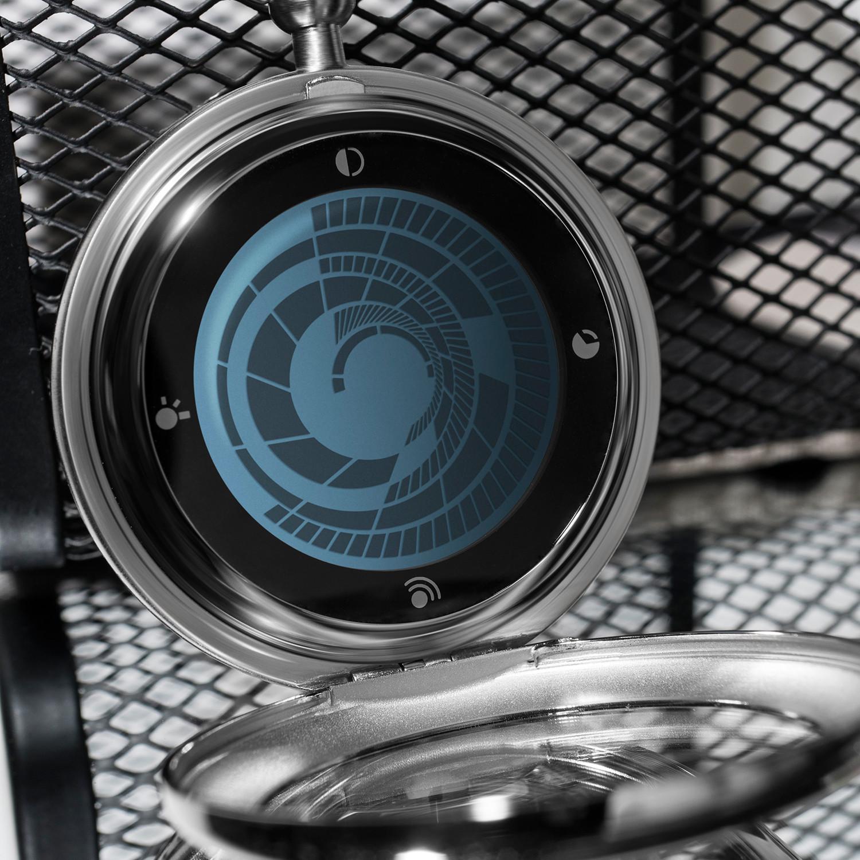 Tokyo flash vortex pocket watch digital silver blue lcd blue led tokyo flash touch for Vortix watches