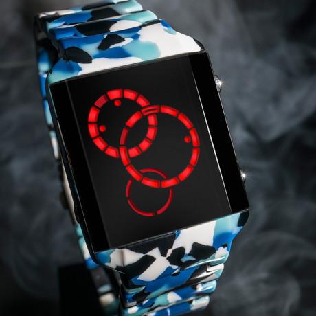 Tokyoflash Satellite-X Acetate Digital // Blue LED