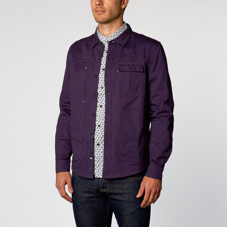 Galio Utility Shirt Jacket // Navy (S)