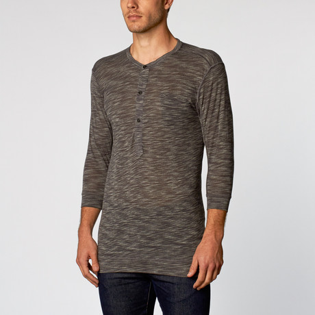 Rengar Slub Knit Long Sleeve Henley // Gray (S)