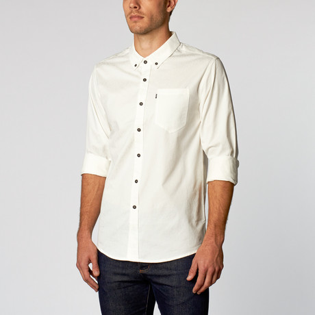 Vladimir Brushed Cotton Shirt // White (S)