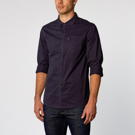 Vladimir Brushed Cotton Shirt // Navy (S)