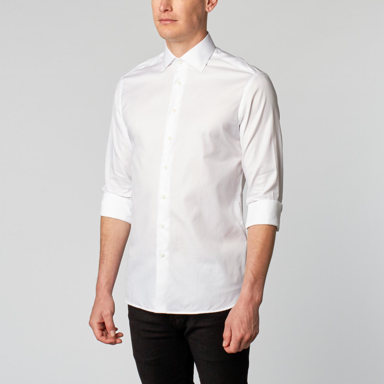 Twill Dress Shirt Classic White Us Boga
