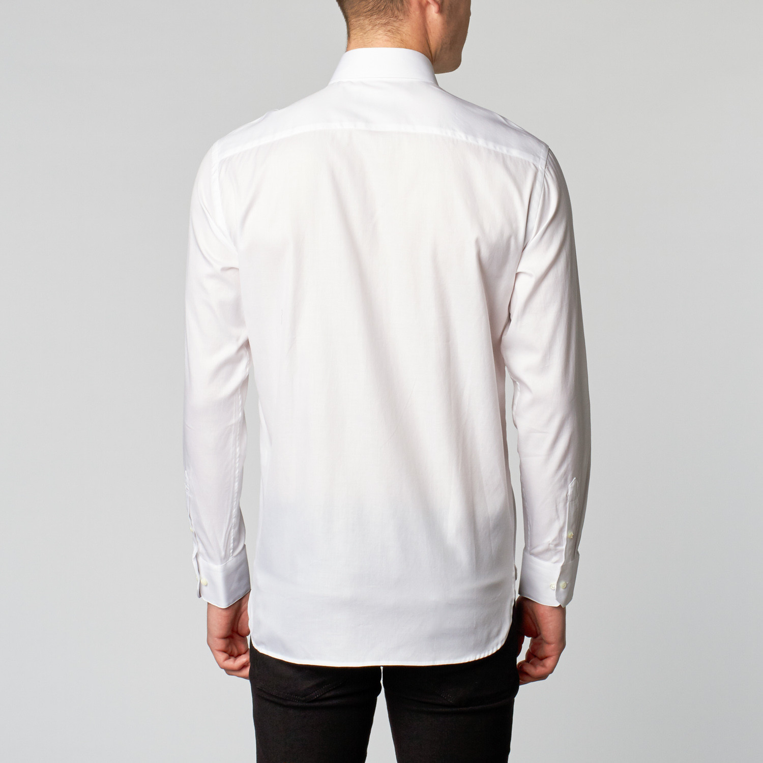 Twill dress shirt classic white us boga for Classic white dress shirt