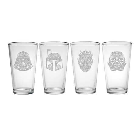 Star Wars // The Dark Side (Pint Glasses // Set of 4)