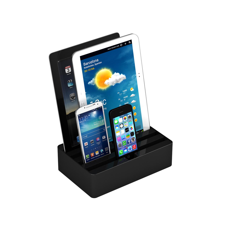 universal charging station black medium all dock touch of modern. Black Bedroom Furniture Sets. Home Design Ideas