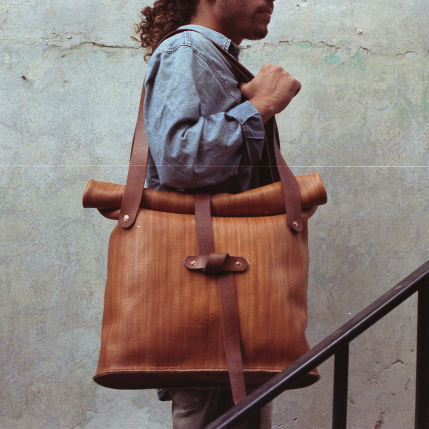 bf04adab56a9 The Emily    Oversized Leather Tote Bag (Brown) - JJ Leathersmith ...