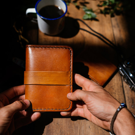 The Linbaba // Leather Passport Wallet + Notebook Cover (Café)