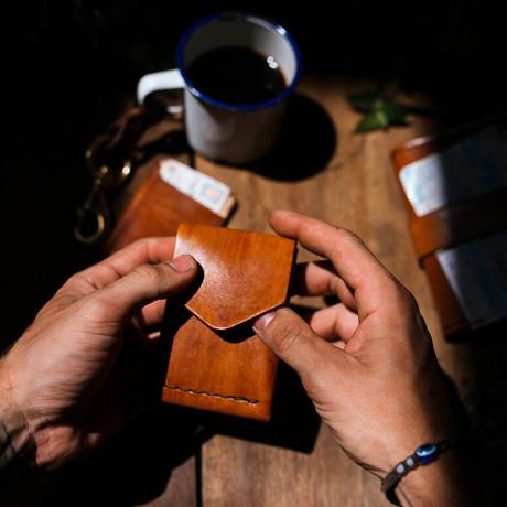 The Lucas // Handmade Leather Wallet (Café)