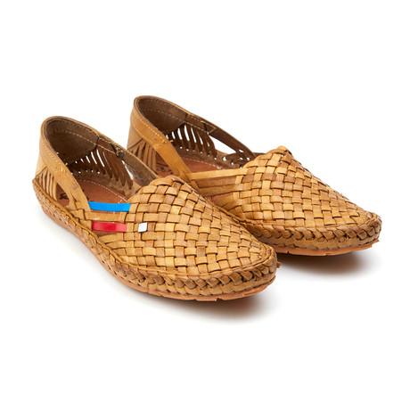 Holas Stripes Sandals// Natural + Blue + Red