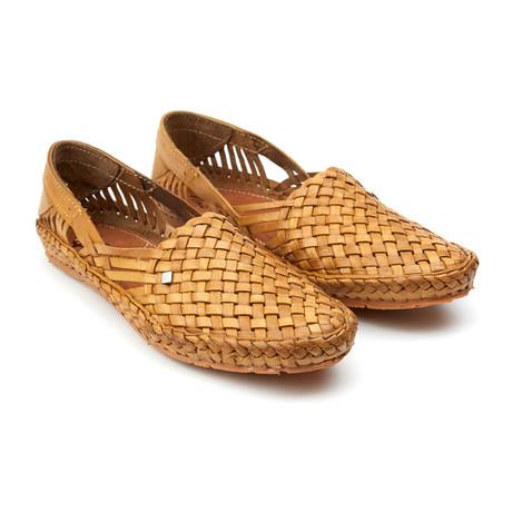 Holas Plain Stripes Sandals // Natural