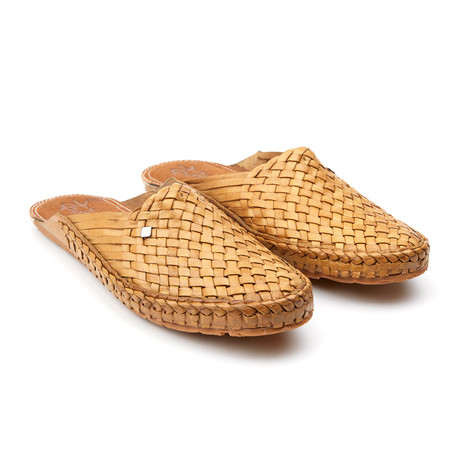 Daily Plain Stripe Sandals // Natural