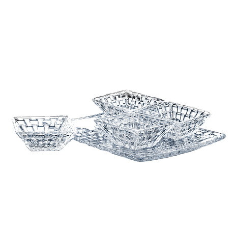 Bossa Nova // Square Plate + 4 Square Bowls