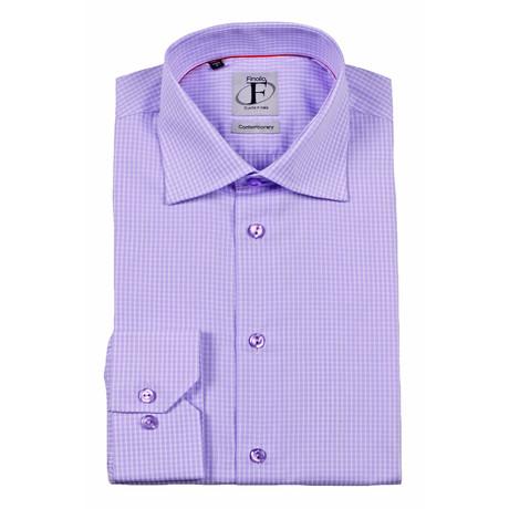 Button-Down Shirt // Lavender Check