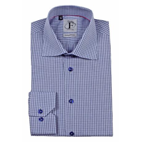 Plaid Button-Up Shirt // Grey + Navy