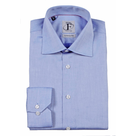 Contemporary Button-Down Shirt // Blue