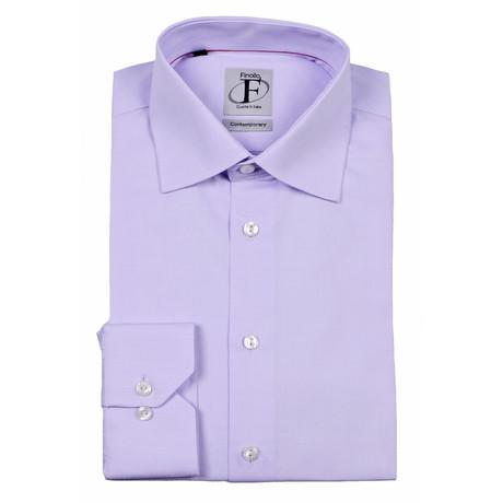 Textured Button-Down Shirt // Lavender