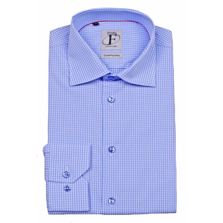 Button-Down Shirt // Light Blue Check