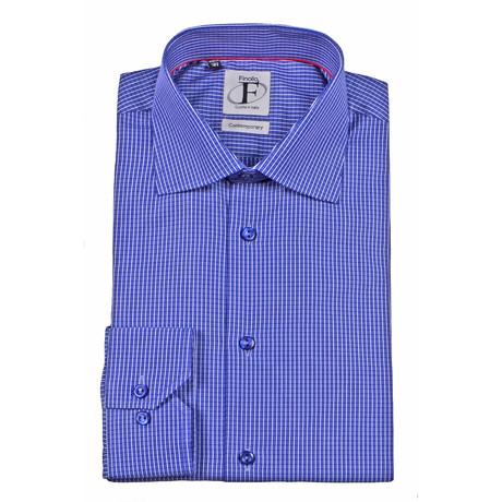Tattersall Plaid Button-Down Shirt // Navy Check