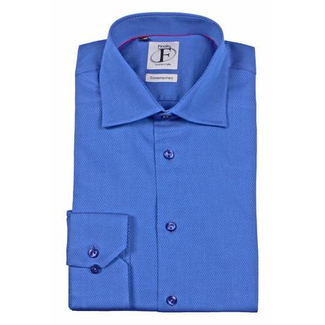 Dobby Weave Textured Button-Down Shirt // Dark Navy